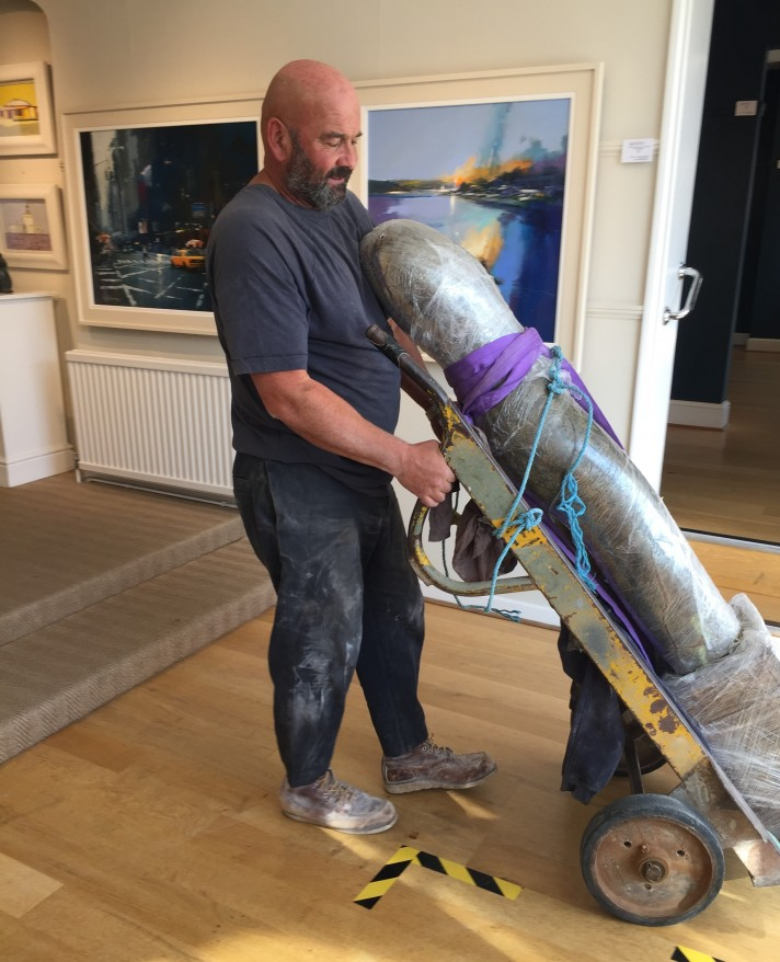 New Sculpture Delivered by Paul Vanstone