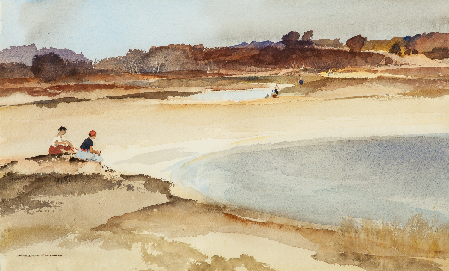 Moorland Pools by  Sir William Russell Flint