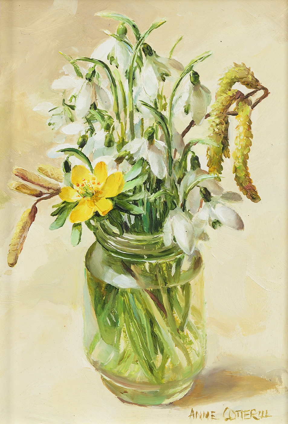 Snow Drops by  Anne Cotterill (1933-2010)