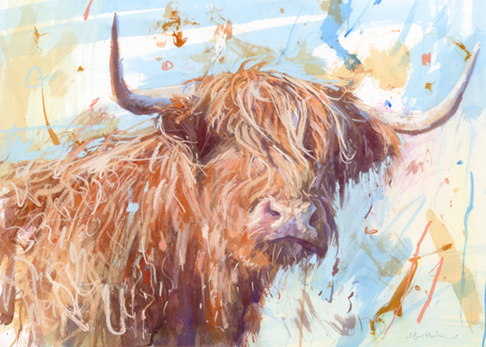 Highland Cow by  James Bartholomew