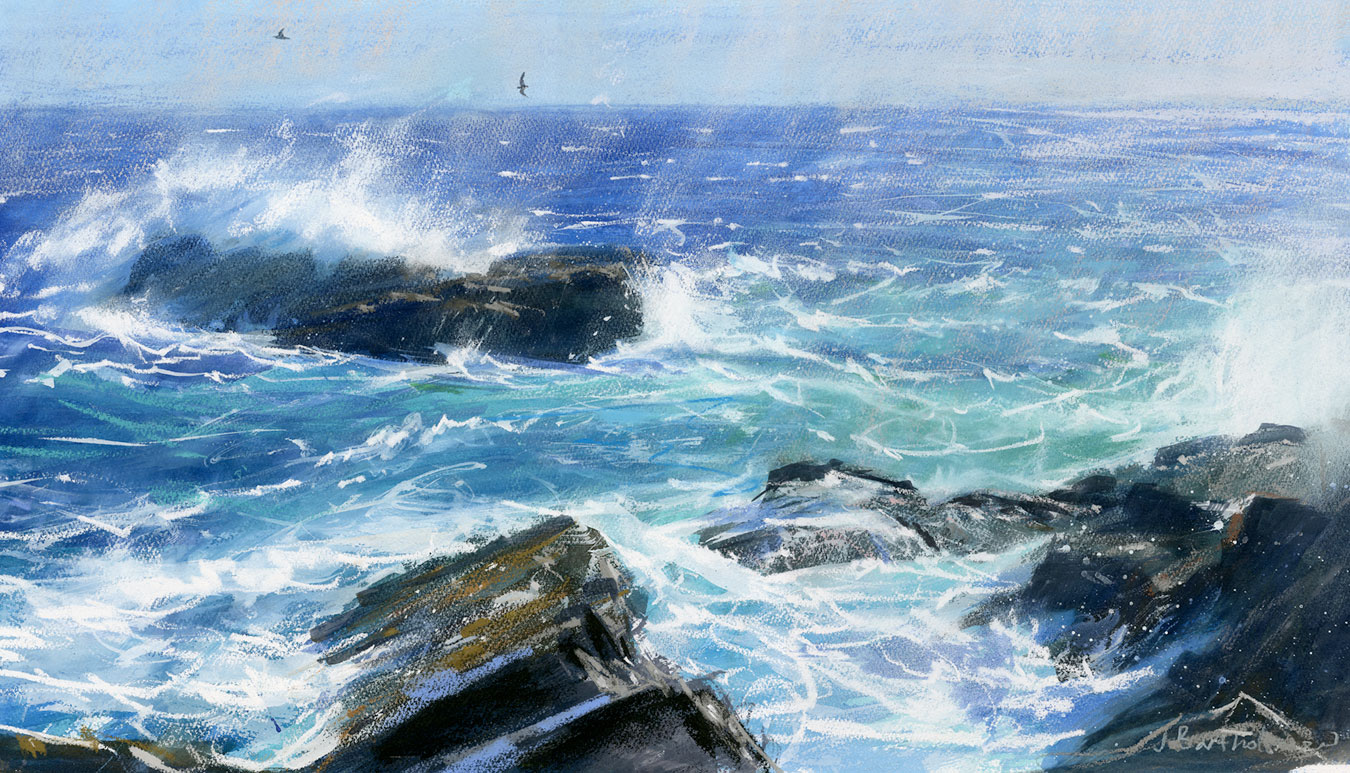 Swells at Porthgwarra by  James Bartholomew