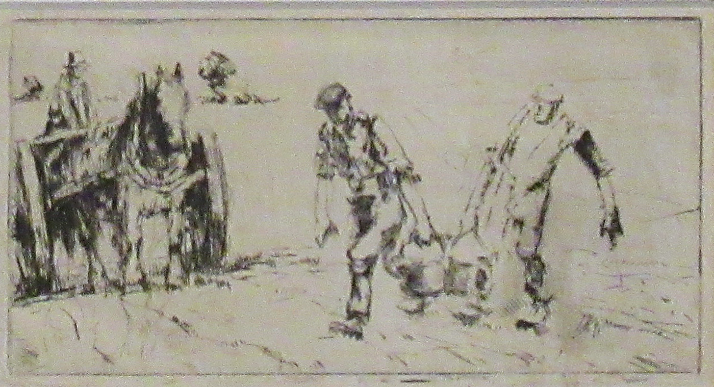 Collecting Potatoes by  Harry Becker (1865-1928)