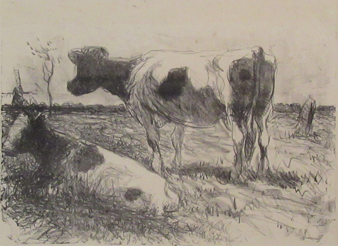 Two Cows, Low Countries, circa 1910 by  Harry Becker (1865-1928)