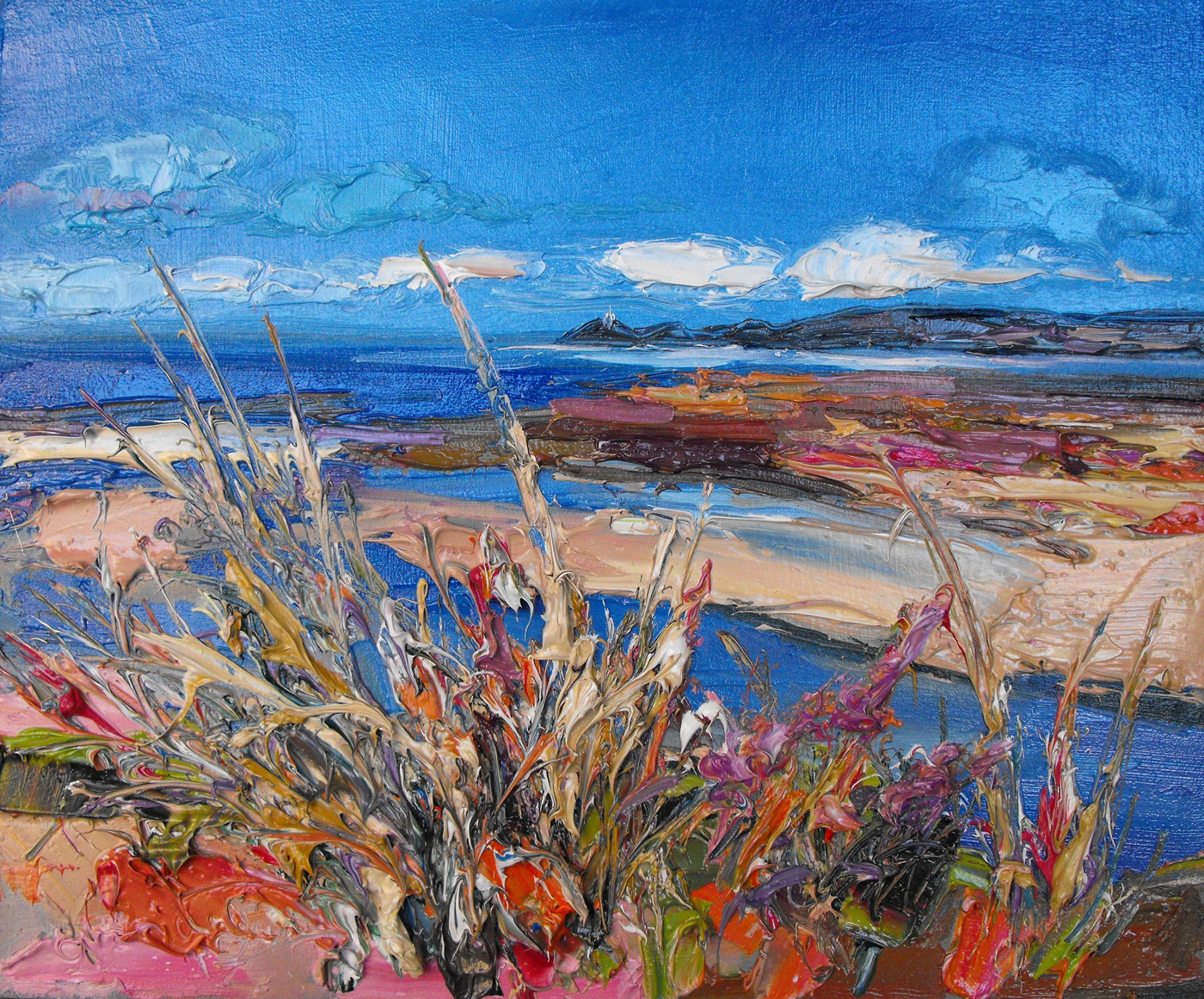 Grasses by the Shore, the Mumbles by  Judith Bridgland