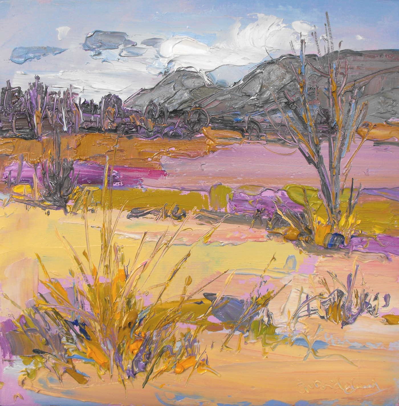 The Campsies in Lilac and Grey by  Judith Bridgland