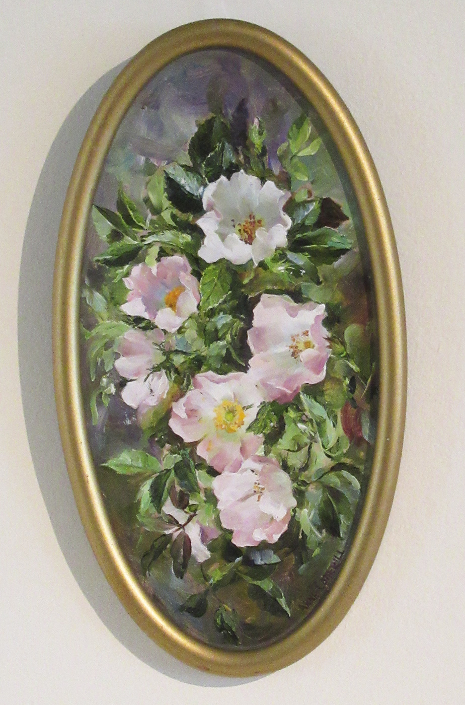 Soft Pink Roses by  Anne Cotterill (1933-2010)