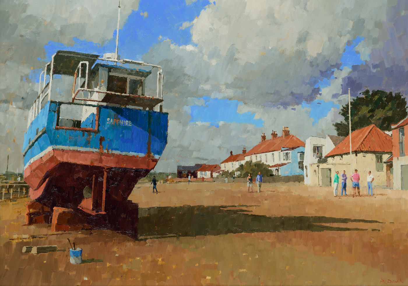 Sunny Interlude at Southwold by  Richard Dack RSMA EAGMA