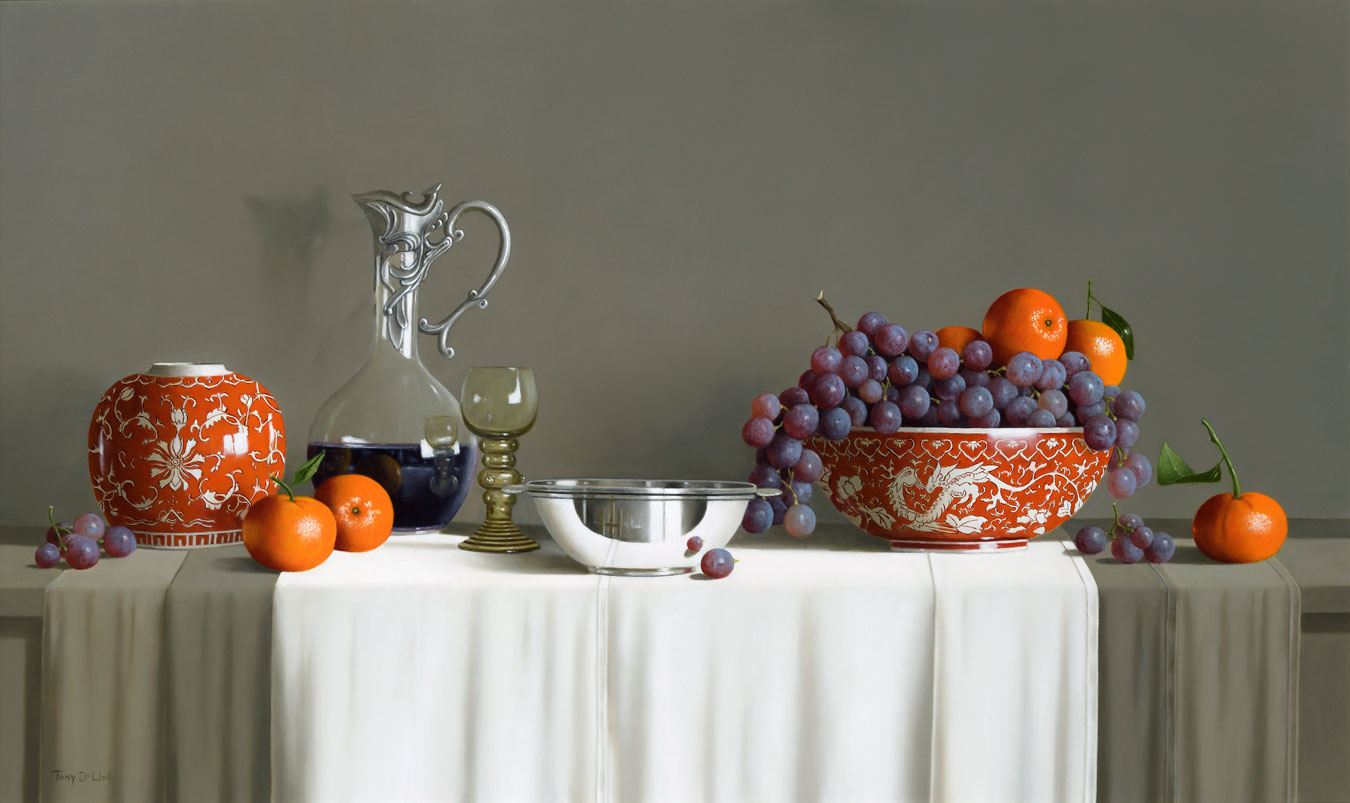 Still Life in Orange by  Tony de Wolf