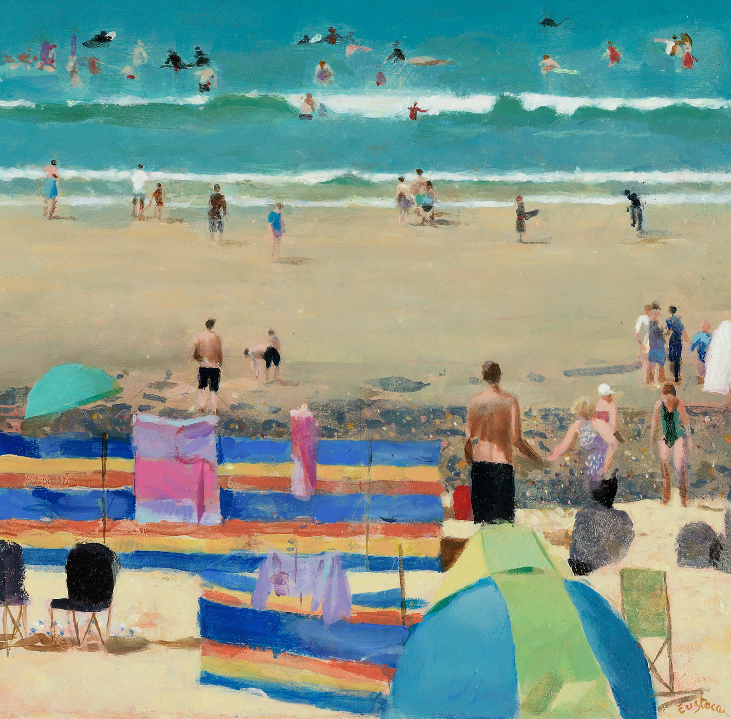 Wish You Were Here, St Ives by  David Eustace RBA