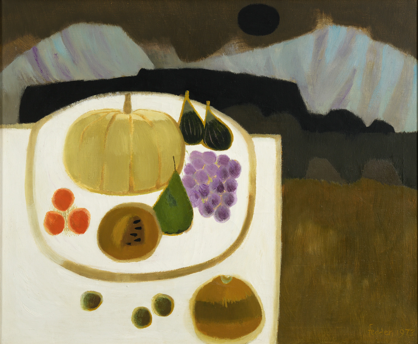 The White Table  by  Mary Fedden OBE RA PPRWA (1915-2012)