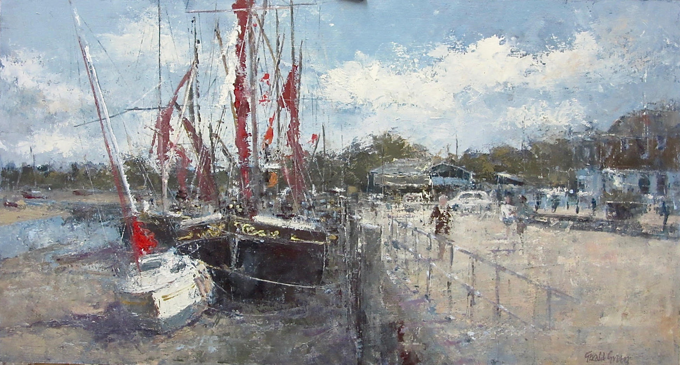 Along the Quay at Maldon by  Gerald Green
