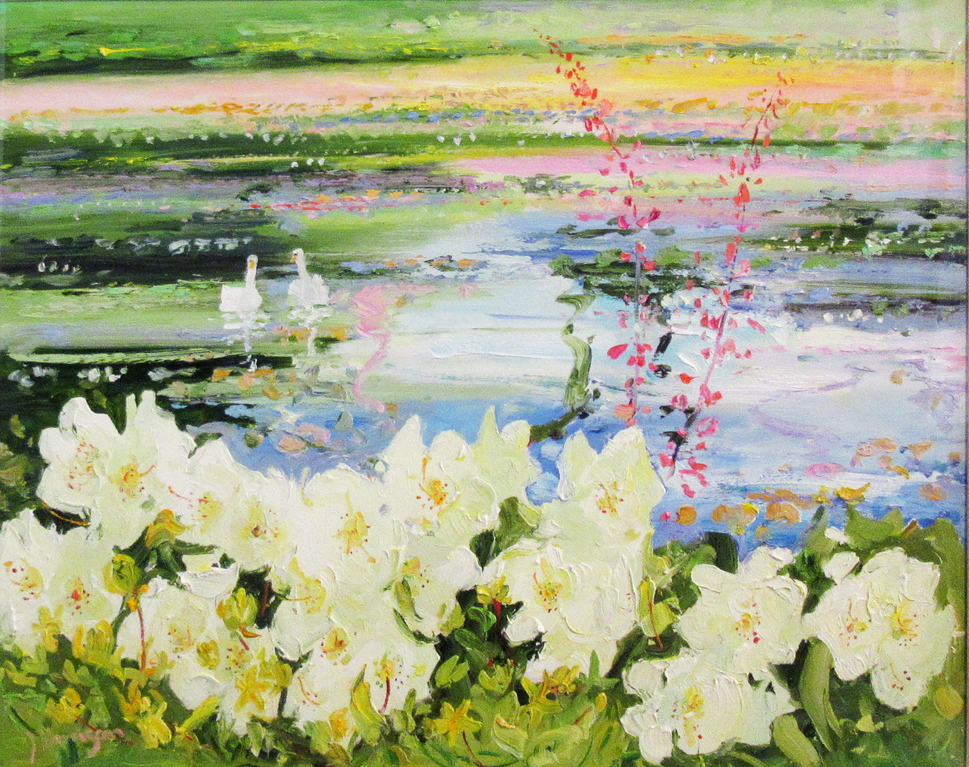 Lily Pond by  James Harrigan