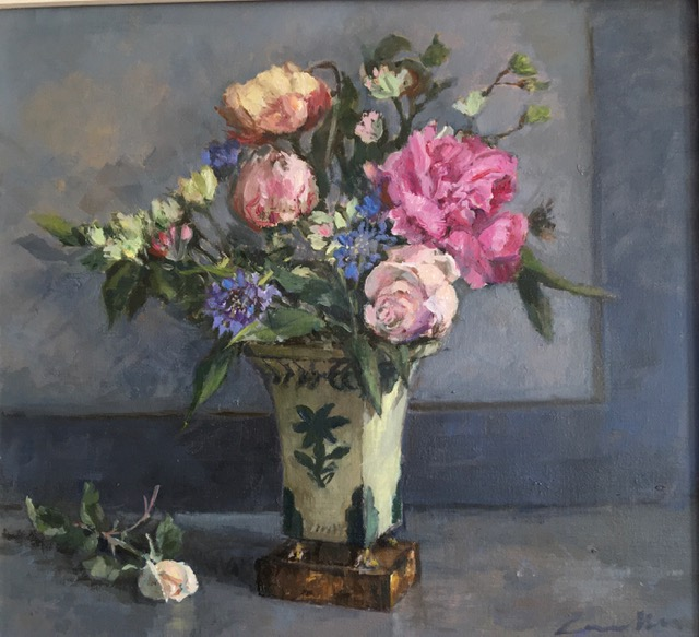 Peonies and Roses by  Jane Corsellis NEAC RWS RCA