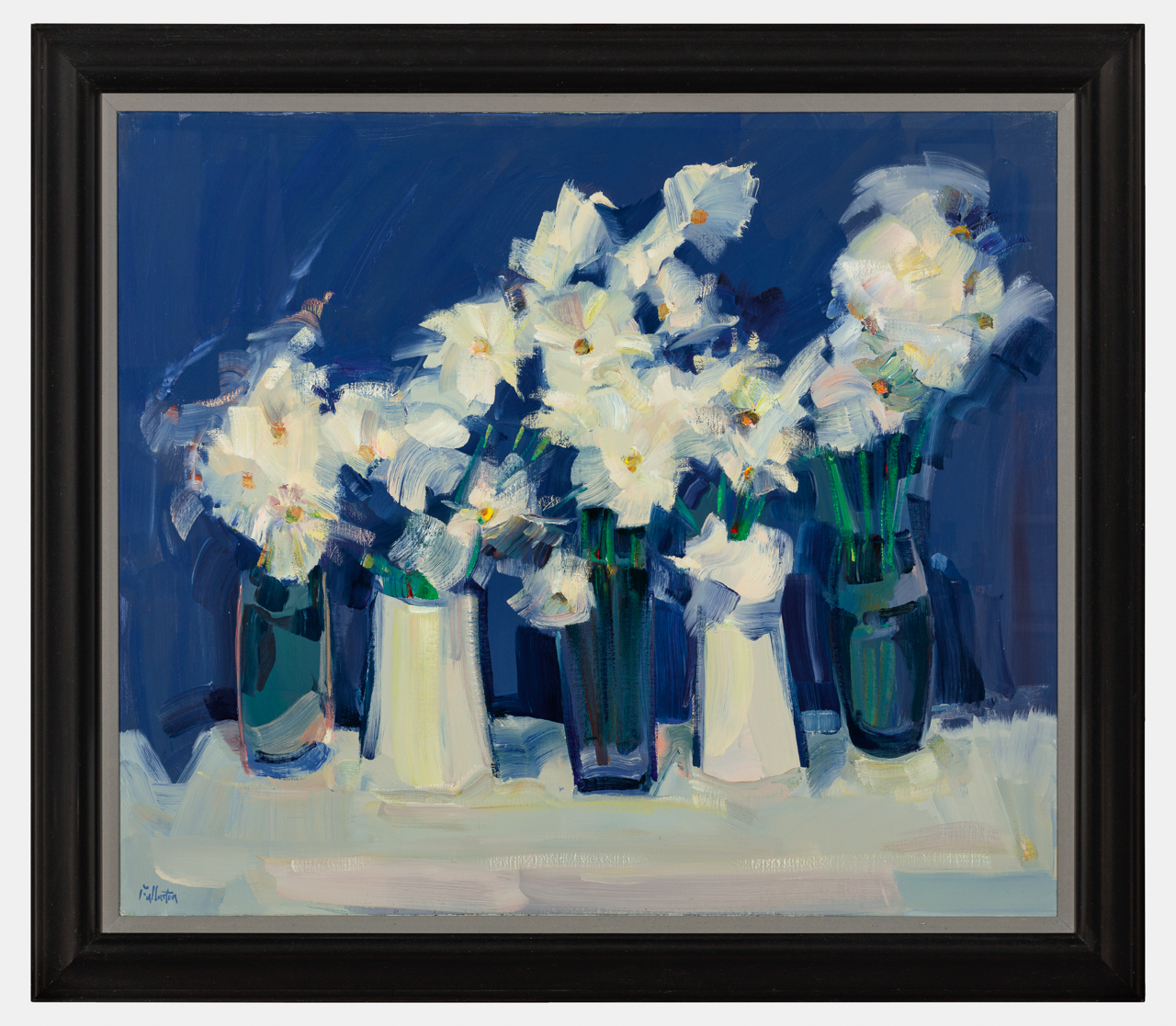 Marguerites on Blue by  James Fullarton