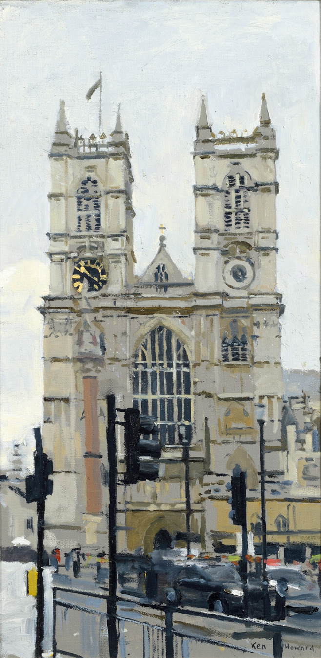Westminster Abbey, Afternoon Light, 2018 by  Ken Howard OBE RA RBA NEAC