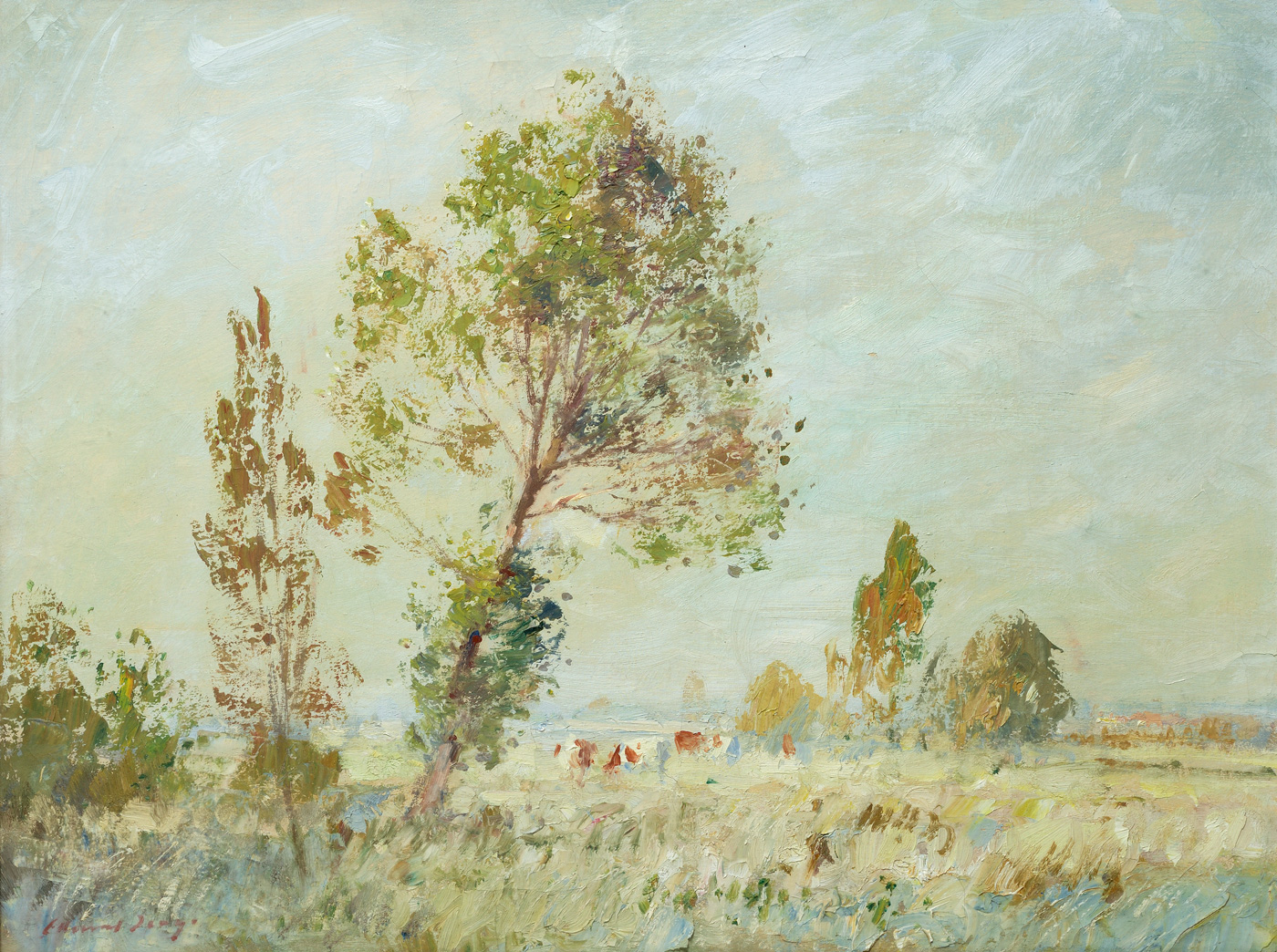 A Norfolk Marsh, October by  Edward Seago RBA ARWS RWS (1910-1974)