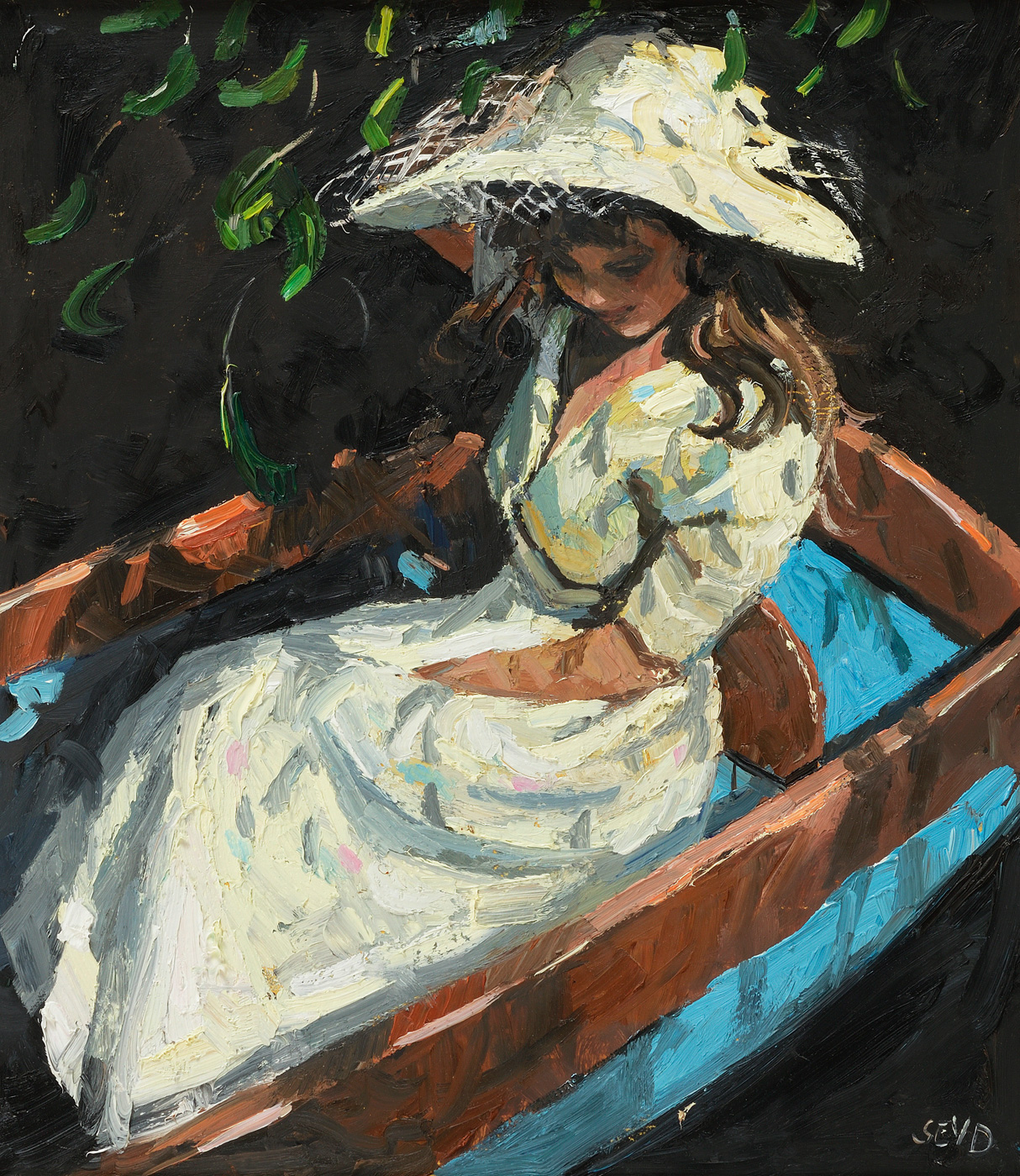 In the Punt-Fishing by  Sherree Valentine-Daines