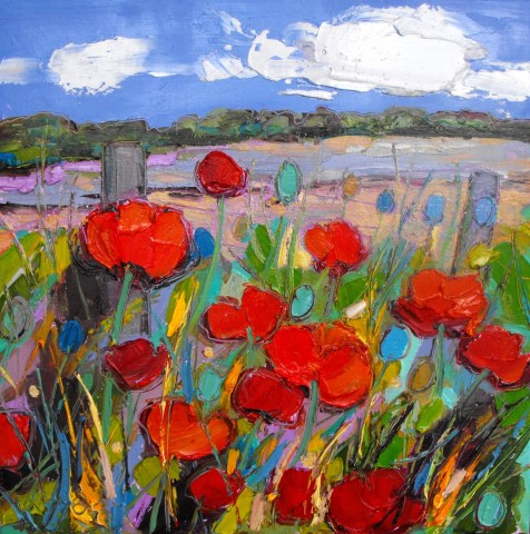 Poppies by the Fence