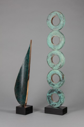 (Left) Everything You Want AP I, Bronze on slate base, 18x3x3'', £1900