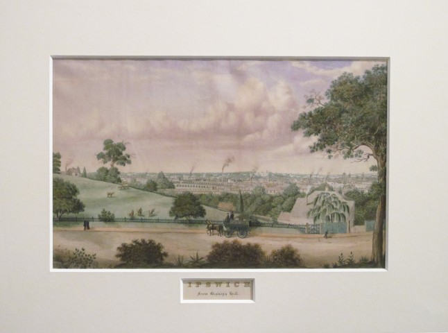 Ipswich from Bishop's Hill  c1865