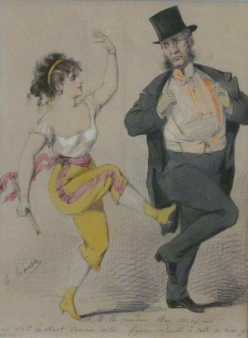 French Risque Scene c1900 inscibed with pencil 6