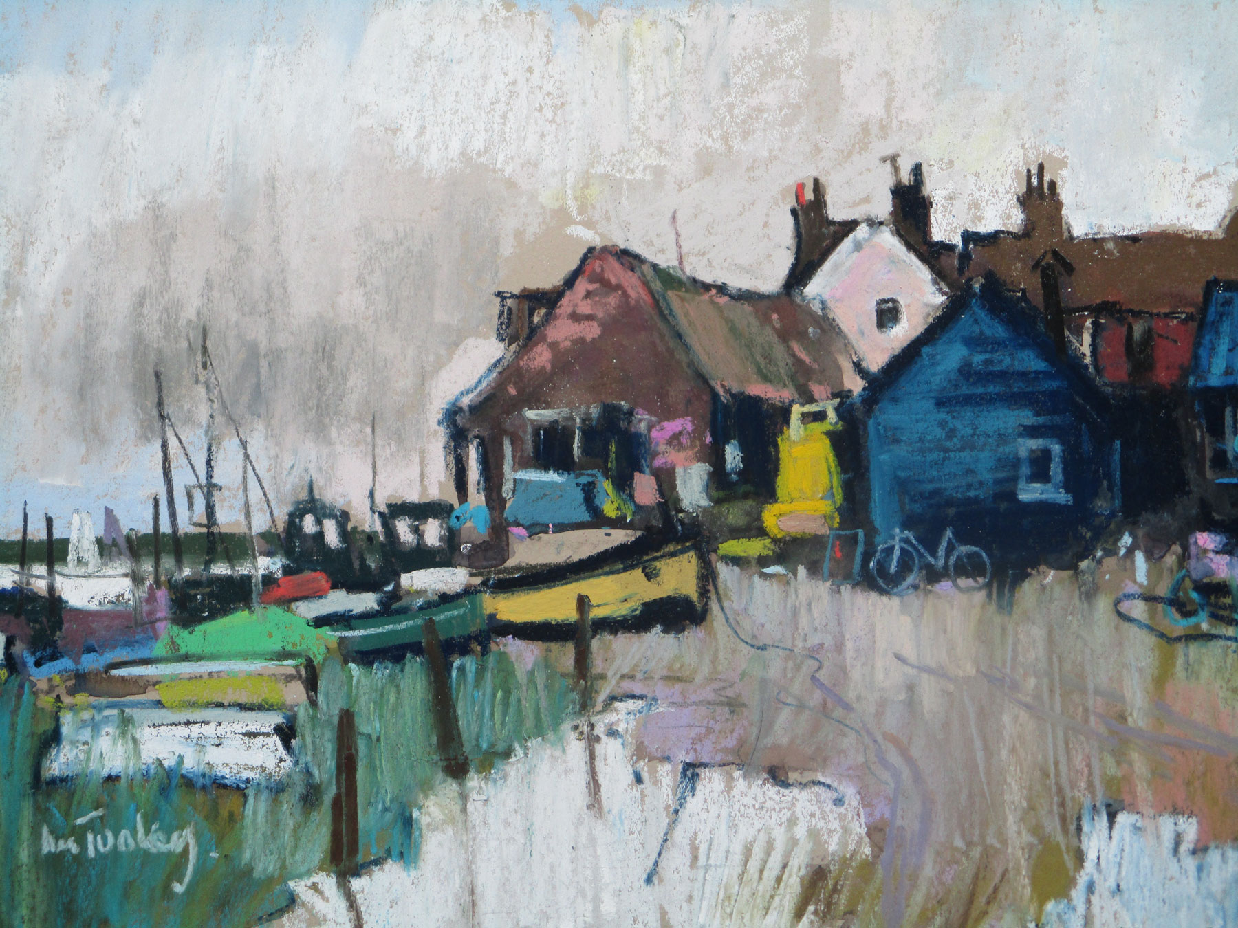 Boatyard Woodbridge by  John Tookey