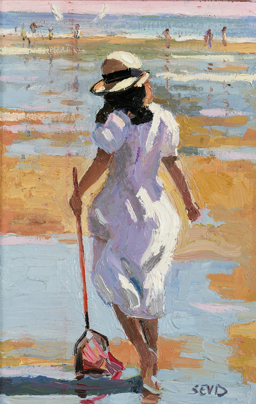Girl with Net by  Sherree Valentine-Daines