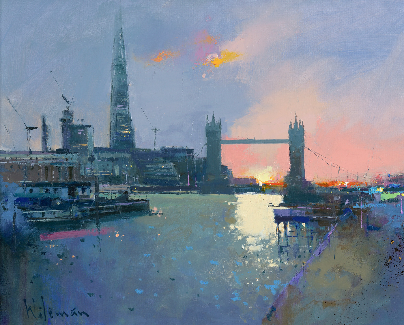 Last Light on the Thames by  Peter Wileman PPROI RSMA FRSA