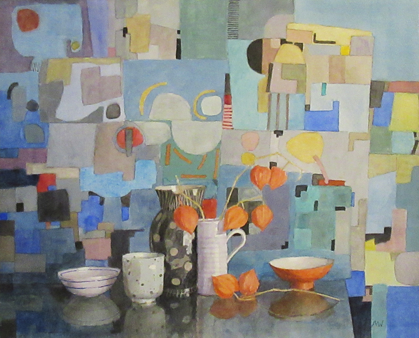 Patchwork in Blue by  Annie Williams