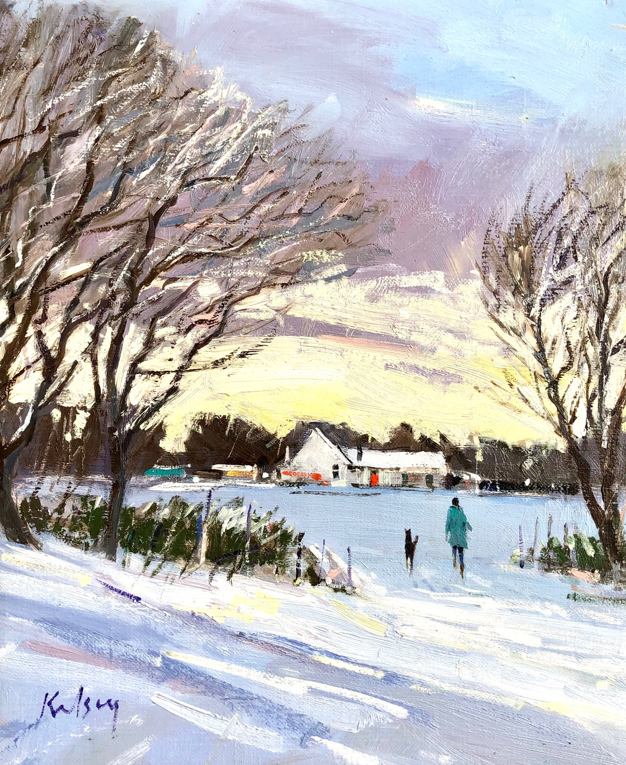 Winter Twilight by  Robert Kelsey DA MUNIV PAI FRSA